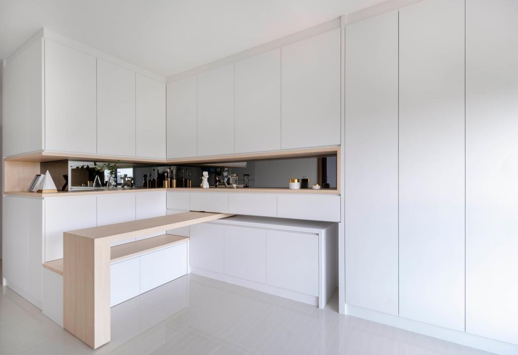 Scandinavian, HDB, Living Room, Northshore Drive, Interior Designer, Starry Homestead, Minimalistic, Swivel, Extendable