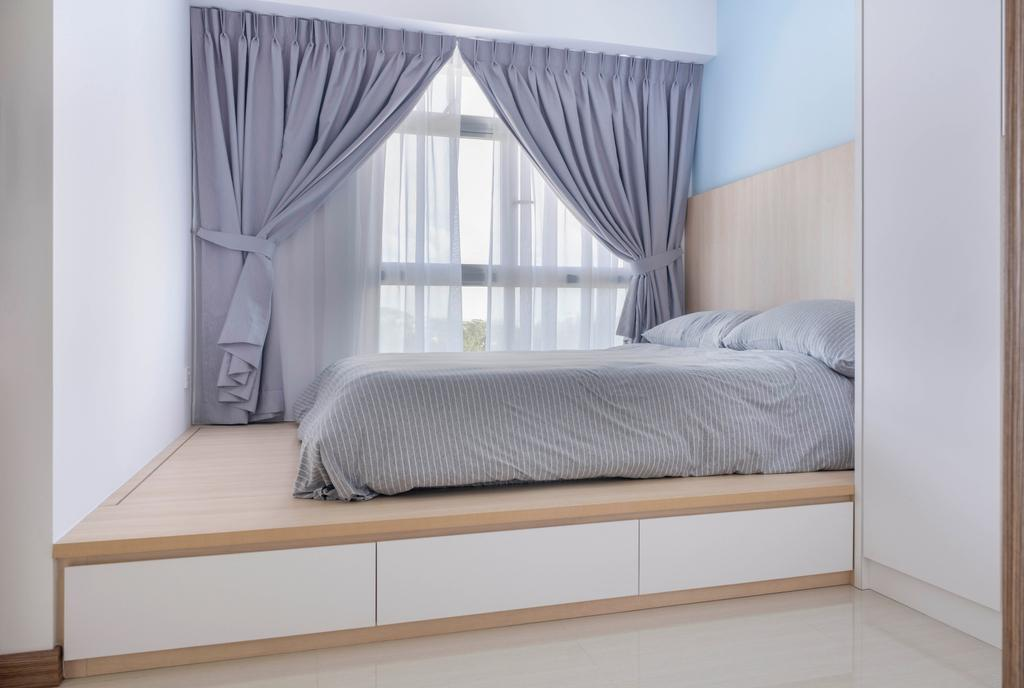 Scandinavian, HDB, Bedroom, Northshore Drive, Interior Designer, Starry Homestead, Minimalistic