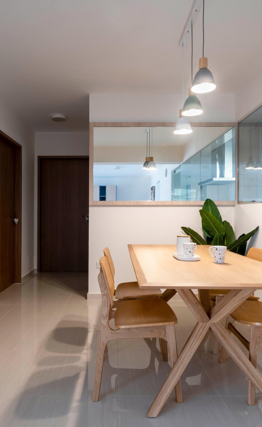 Scandinavian, HDB, Dining Room, Bukit Batok Street 41, Interior Designer, Starry Homestead