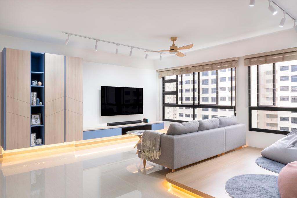 Scandinavian, HDB, Living Room, Bukit Batok Street 41, Interior Designer, Starry Homestead