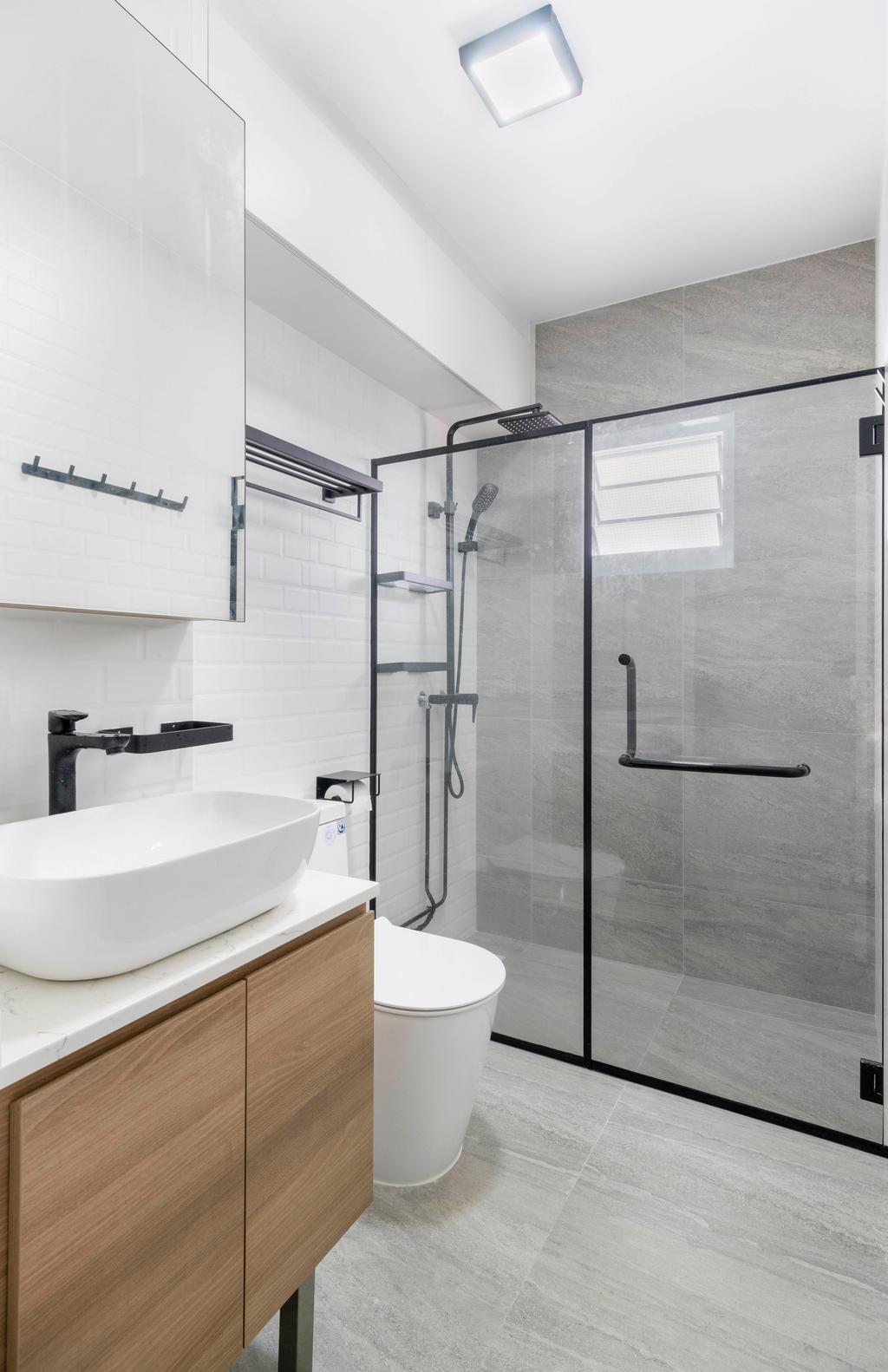 Scandinavian, HDB, Bathroom, Bedok Reservoir Road, Interior Designer, Starry Homestead