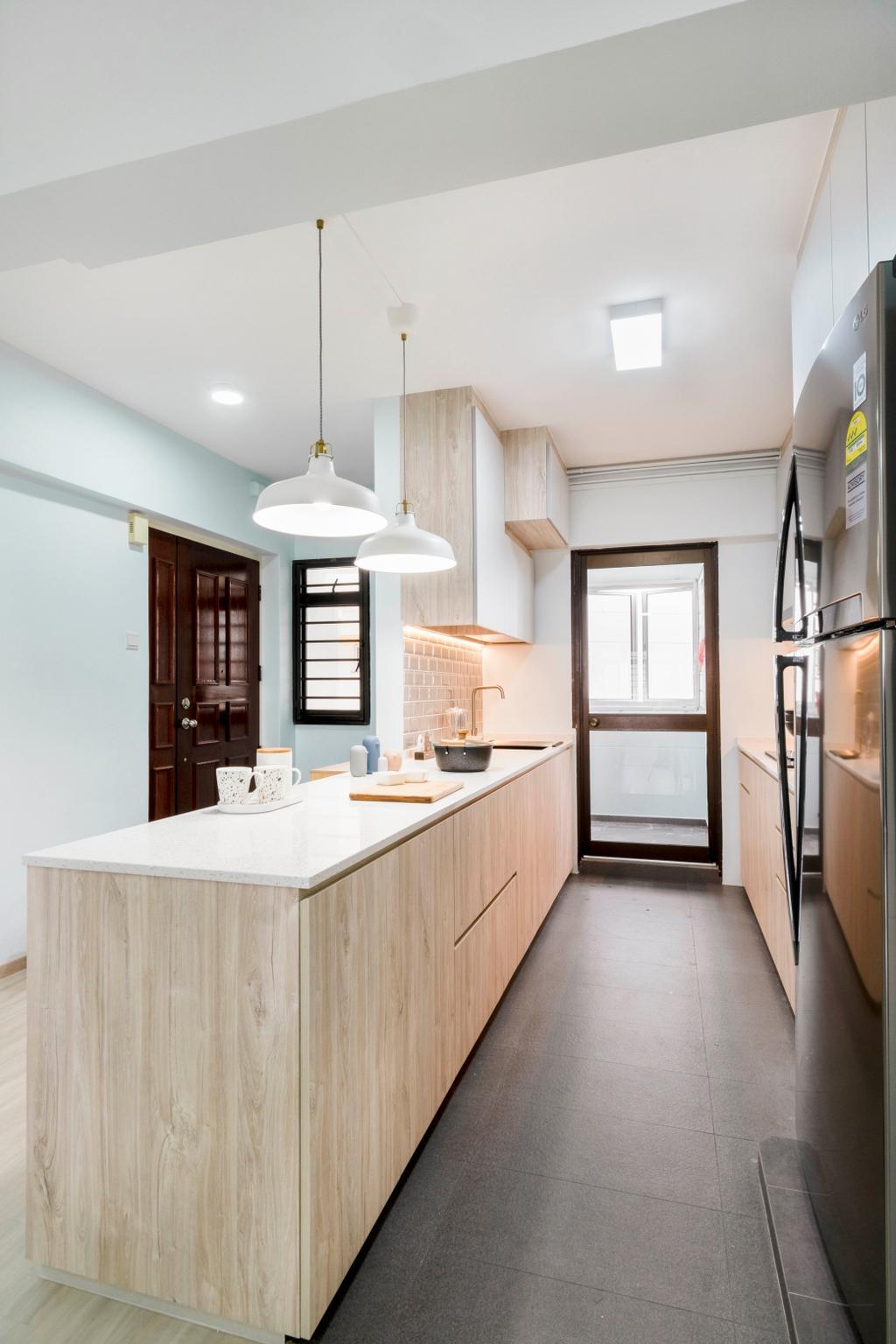 Scandinavian, HDB, Kitchen, Bedok Reservoir Road, Interior Designer, Starry Homestead