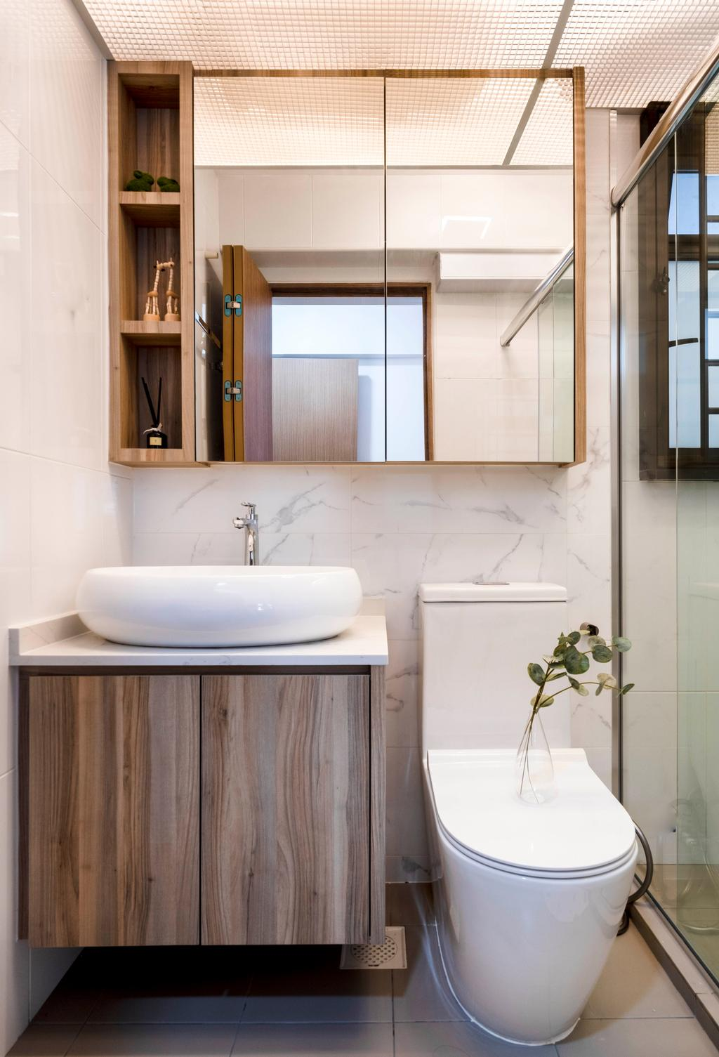 Scandinavian, HDB, Bathroom, Alkaff Crescent, Interior Designer, Starry Homestead