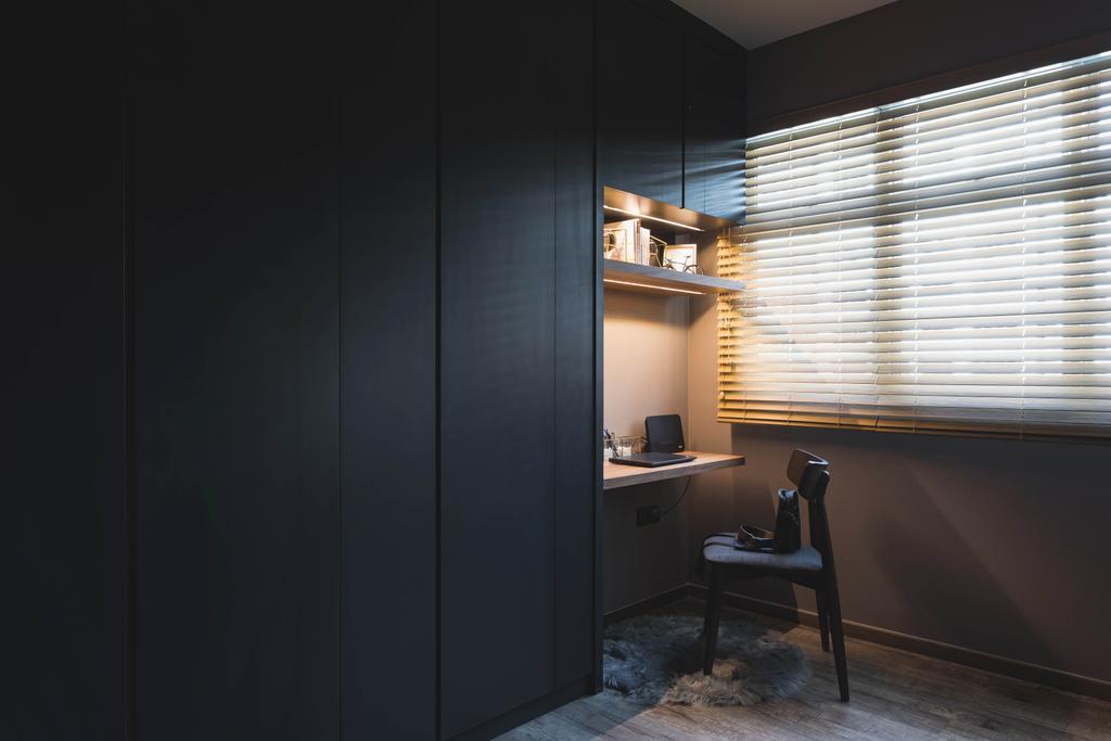 Modern, HDB, Bedroom, Punggol Place, Interior Designer, SHE Interior, Contemporary, Vanity, Wardrobe