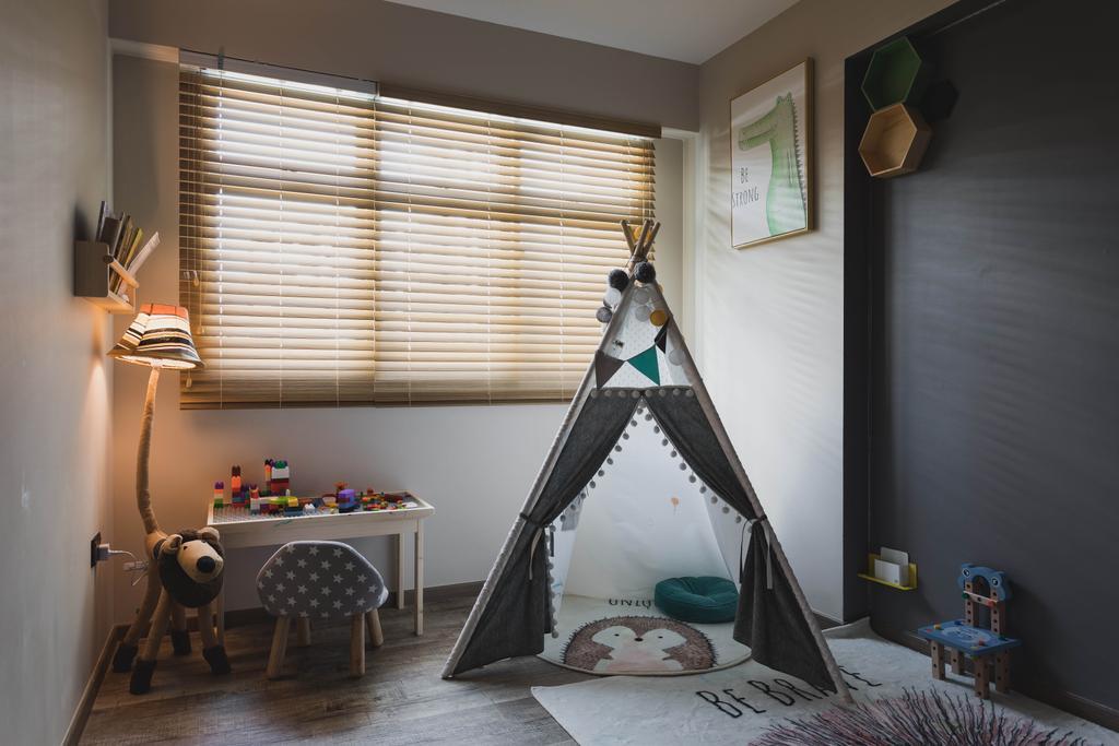Modern, HDB, Bedroom, Punggol Place, Interior Designer, SHE Interior, Contemporary, Kids Room, Playroom, Nursery