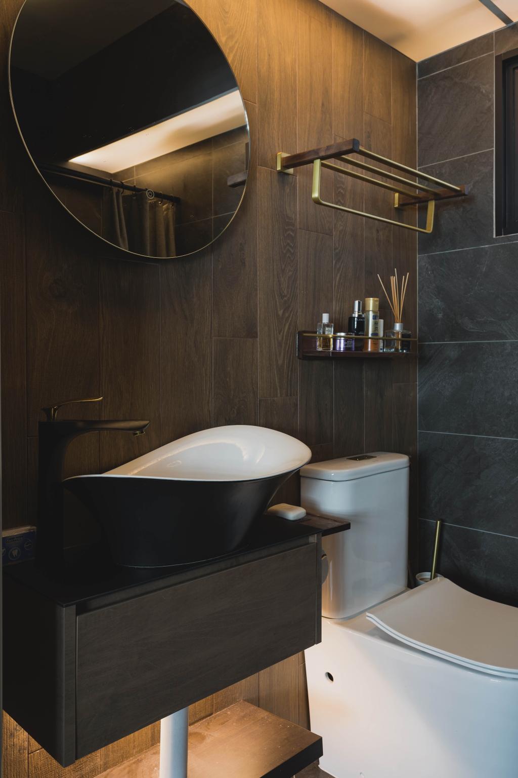 Modern, HDB, Bathroom, Punggol Place, Interior Designer, SHE Interior, Contemporary