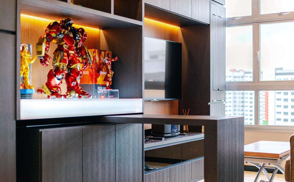 Modern, HDB, Living Room, Bukit Batok, Interior Designer, Ataz Haus Interior Design, Contemporary