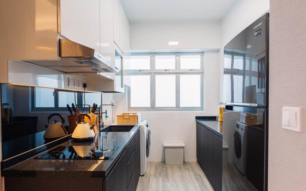 Modern, HDB, Kitchen, Bukit Batok, Interior Designer, Ataz Haus Interior Design, Contemporary