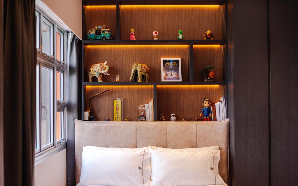 Modern, HDB, Bedroom, Bukit Batok, Interior Designer, Ataz Haus Interior Design, Contemporary, Collectibles, Display