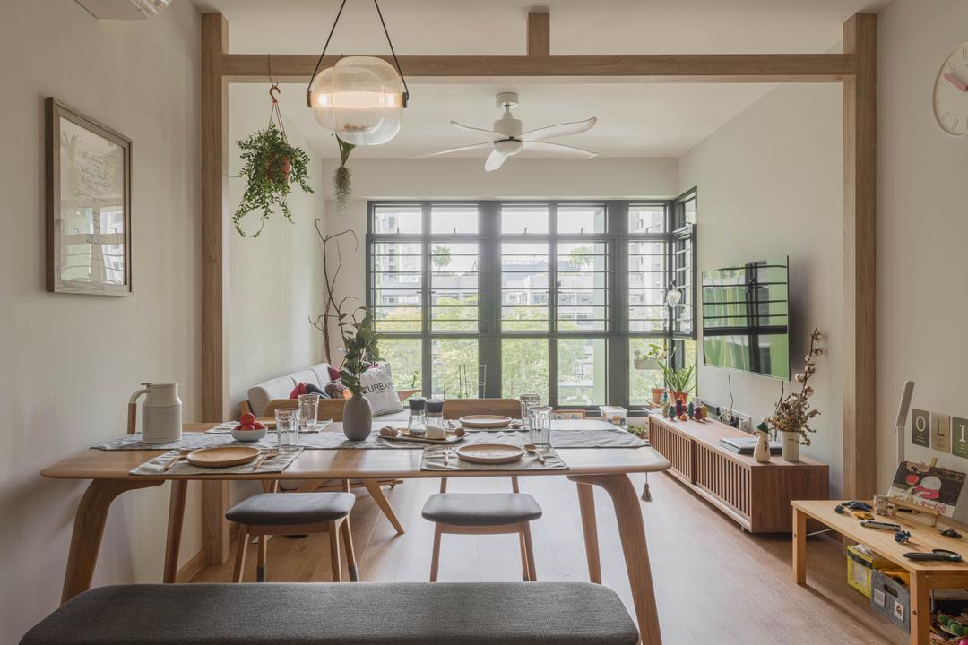 White and Wood Homes Qanvast Singapore Bidadari Park Drive by Urban Home Design 二本設計家
