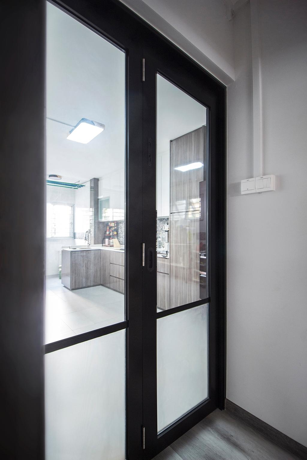 Modern, HDB, Kitchen, Jurong East, Interior Designer, Noble Interior Design