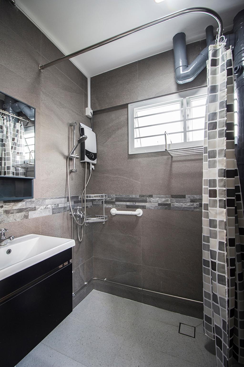 Modern, HDB, Bathroom, Jurong East, Interior Designer, Noble Interior Design