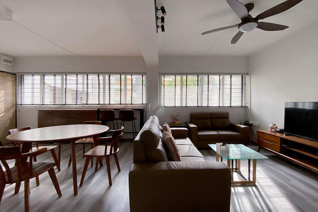 Modern, HDB, Living Room, Jurong East, Interior Designer, Noble Interior Design