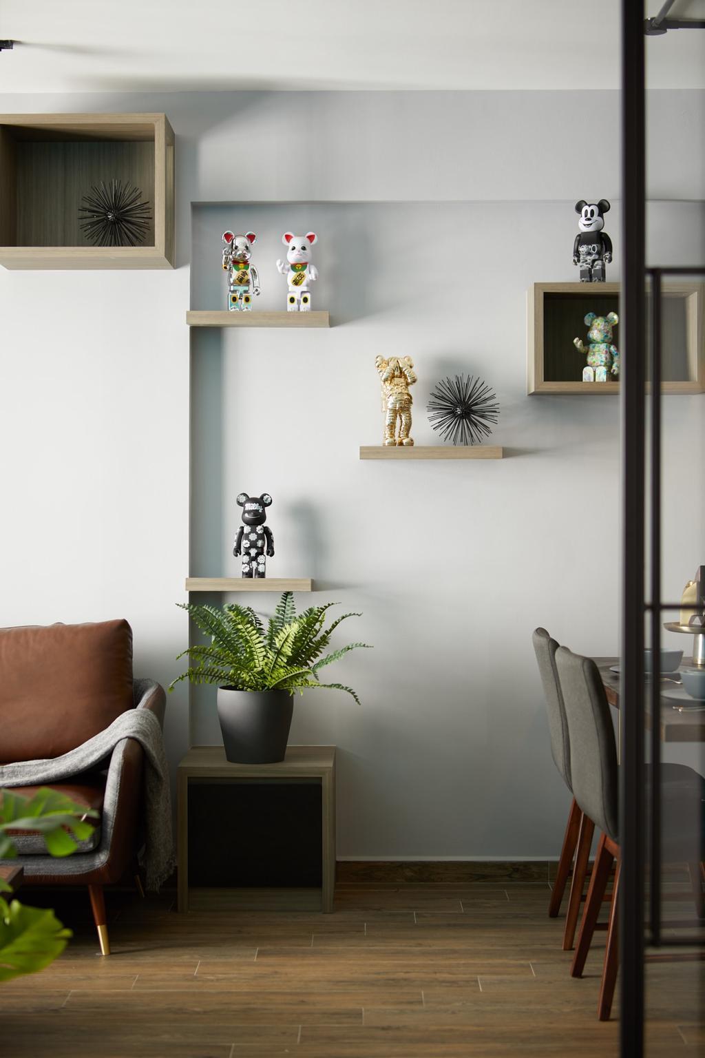 Contemporary, HDB, Living Room, Fernvale Link, Interior Designer, Ovon Design