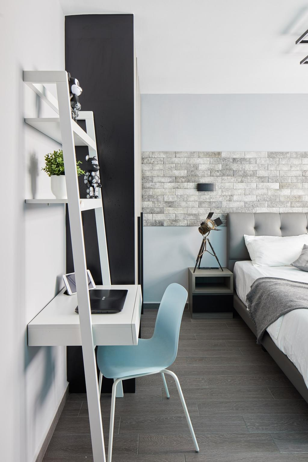 Contemporary, HDB, Bedroom, Fernvale Link, Interior Designer, Ovon Design