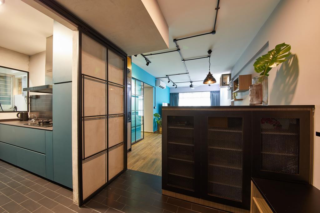 Contemporary, HDB, Kitchen, Fernvale Link, Interior Designer, Ovon Design