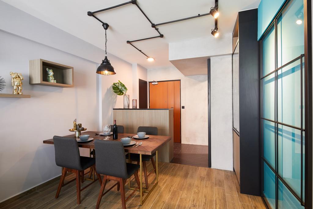 Contemporary, HDB, Dining Room, Fernvale Link, Interior Designer, Ovon Design