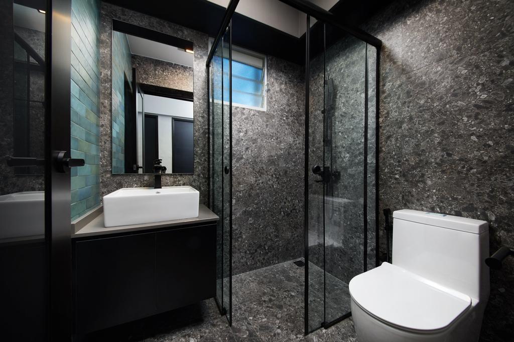 Contemporary, HDB, Bathroom, Fernvale Link, Interior Designer, Ovon Design