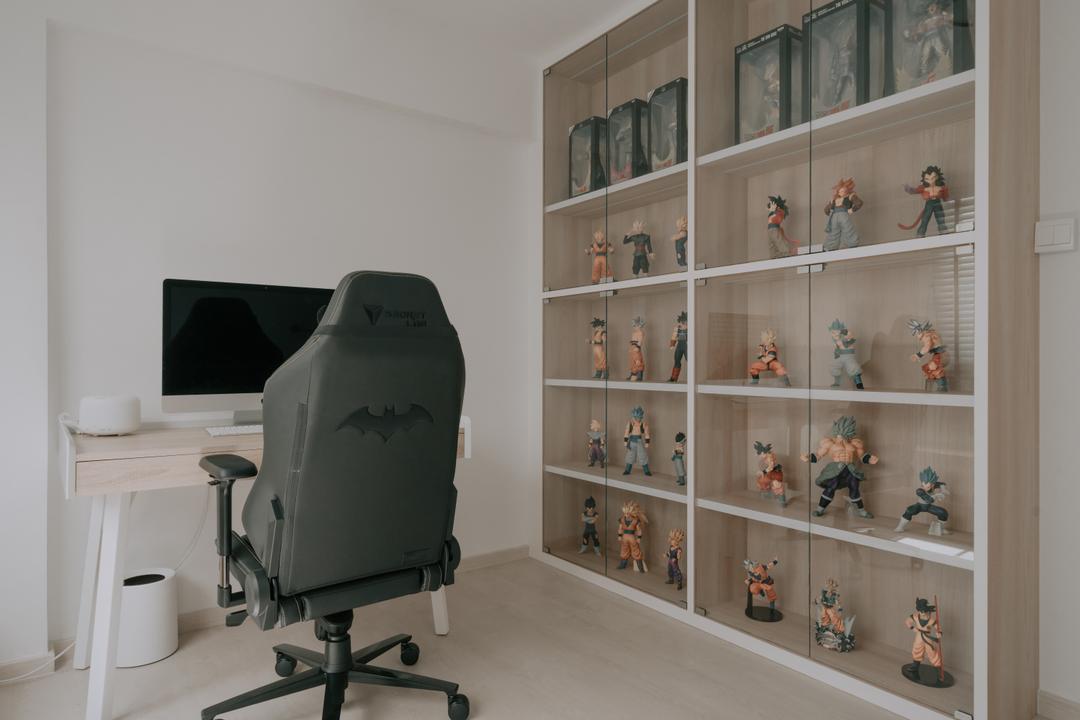 Serangoon Central, Key Concept, Minimalistic, Study, HDB, Collectibles, Display, Figurines, Storage