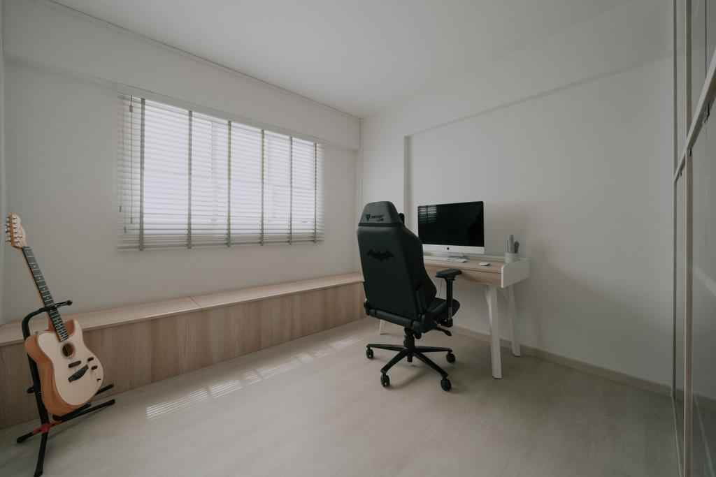 Minimalistic, HDB, Study, Serangoon Central, Interior Designer, Key Concept