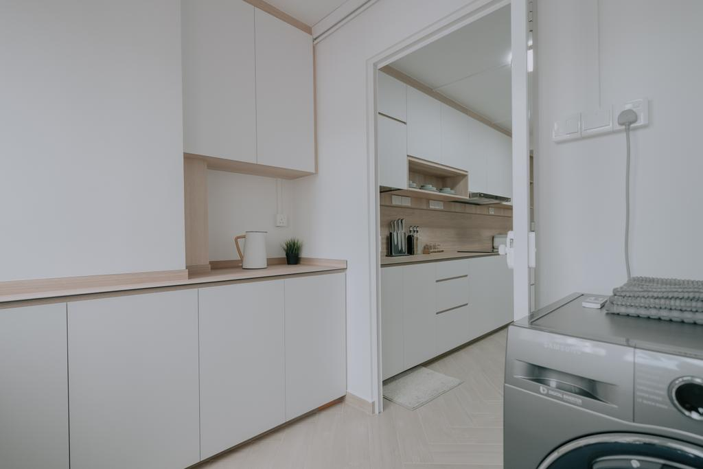 Minimalistic, HDB, Kitchen, Serangoon Central, Interior Designer, Key Concept, Yard, Service Yard