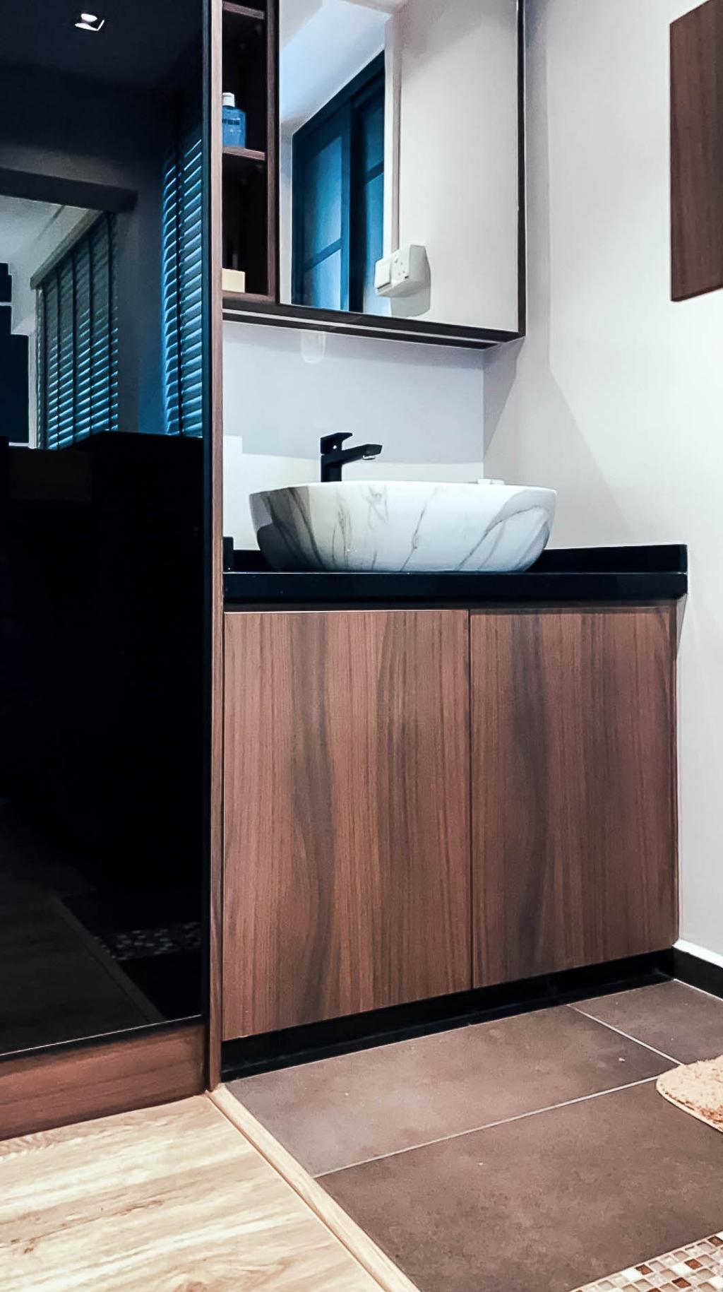 Contemporary, HDB, Bathroom, Clementi West, Interior Designer, Ataz Haus Interior Design