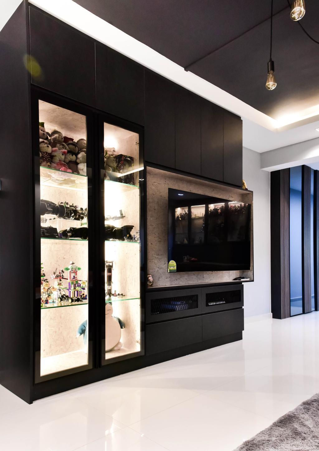 Contemporary, HDB, Living Room, Clementi West, Interior Designer, Ataz Haus Interior Design