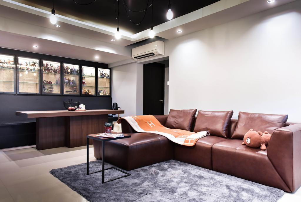 Contemporary, HDB, Living Room, Clementi West, Interior Designer, Ataz Haus Interior Design