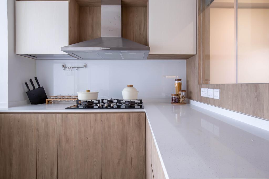 Modern, HDB, Kitchen, Serangoon North Avenue 2, Interior Designer, Sense & Semblance, Scandinavian