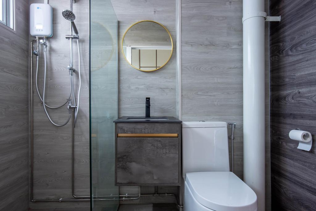 Modern, HDB, Bathroom, Serangoon North Avenue 2, Interior Designer, Sense & Semblance, Scandinavian