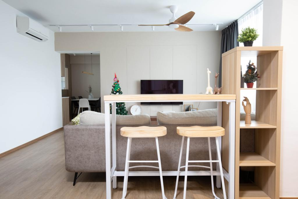 Modern, HDB, Living Room, Serangoon North Avenue 2, Interior Designer, Sense & Semblance, Scandinavian