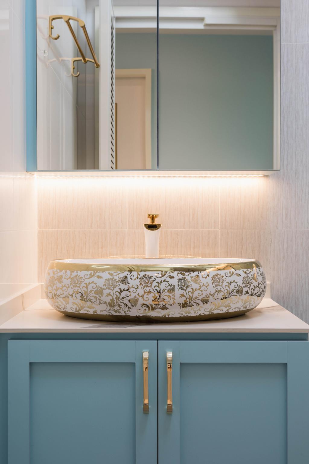 Modern, HDB, Bathroom, Canberra Street, Interior Designer, ChengYi Interior Design