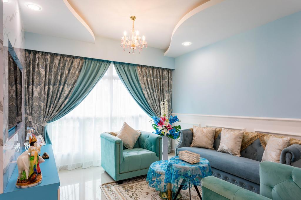 Modern, HDB, Living Room, Canberra Street, Interior Designer, ChengYi Interior Design