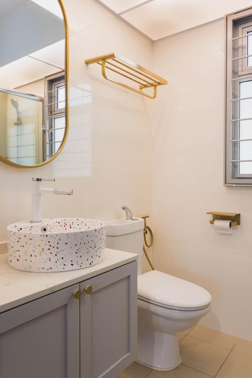 Modern, HDB, Bathroom, Tampines North Drive 1, Interior Designer, Great Oasis Interior Design