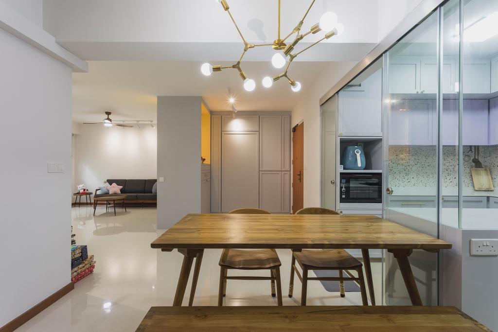 Modern, HDB, Dining Room, Tampines North Drive 1, Interior Designer, Great Oasis Interior Design