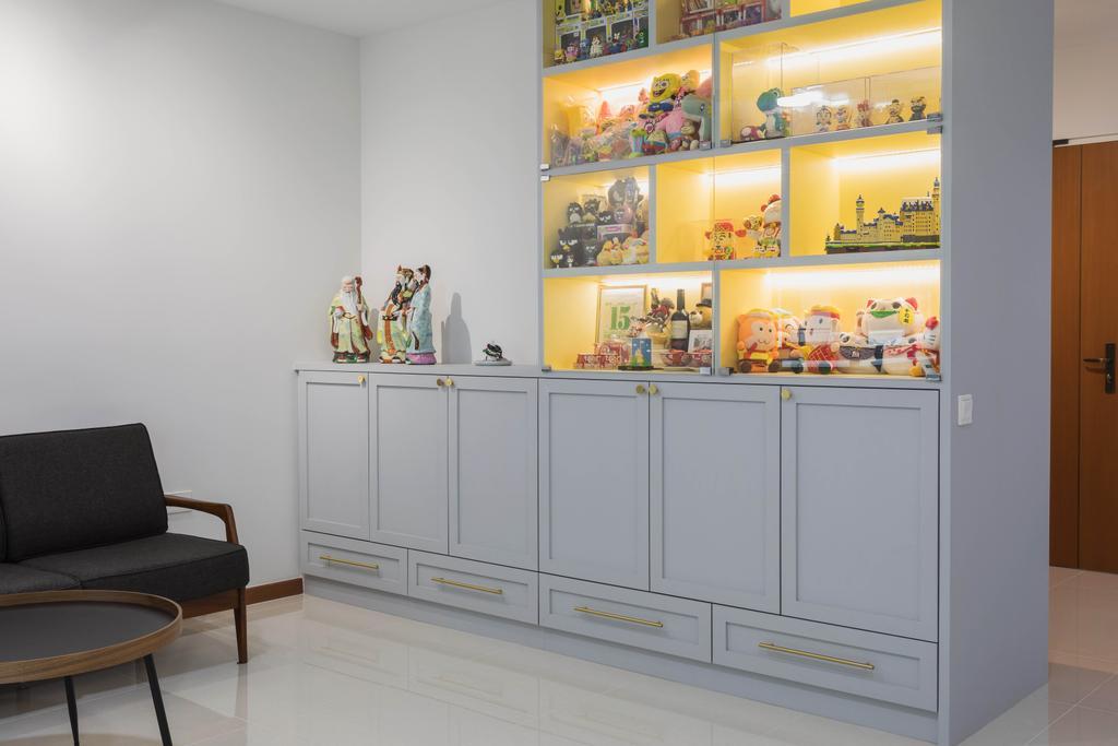 Modern, HDB, Living Room, Tampines North Drive 1, Interior Designer, Great Oasis Interior Design