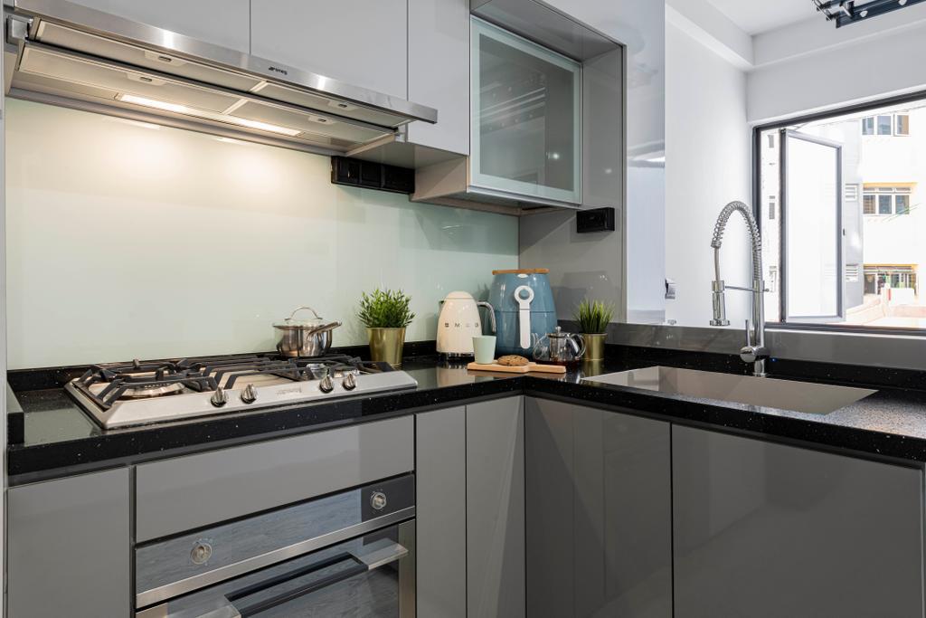 Contemporary, HDB, Kitchen, Ang Mo Kio Avenue 6, Interior Designer, Butler Interior