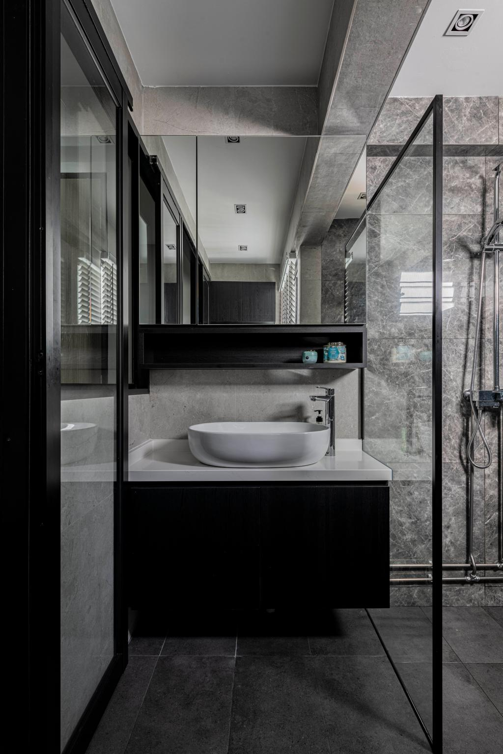 Contemporary, HDB, Bathroom, Ang Mo Kio Avenue 6, Interior Designer, Butler Interior