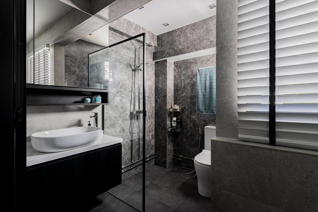 Contemporary, HDB, Bathroom, Ang Mo Kio Avenue 6, Interior Designer, Butler Interior
