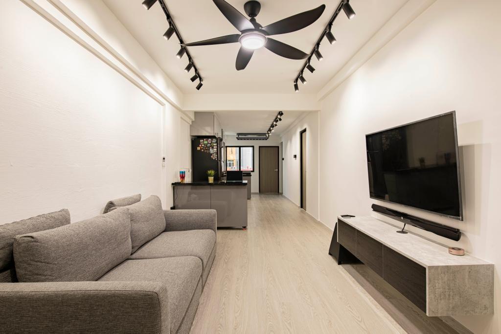Contemporary, HDB, Living Room, Ang Mo Kio Avenue 6, Interior Designer, Butler Interior