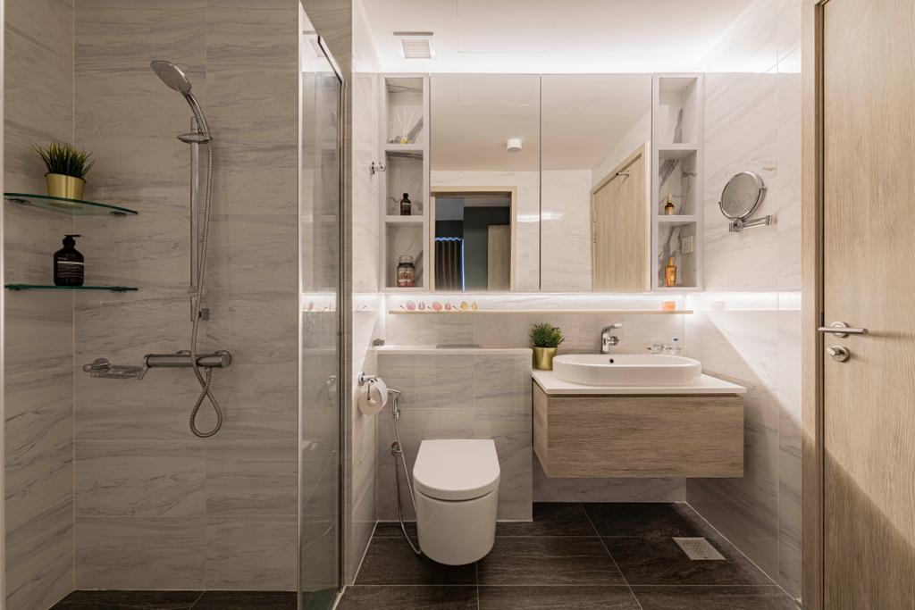 Modern, Condo, Bathroom, The Alps Residences, Interior Designer, Butler Interior
