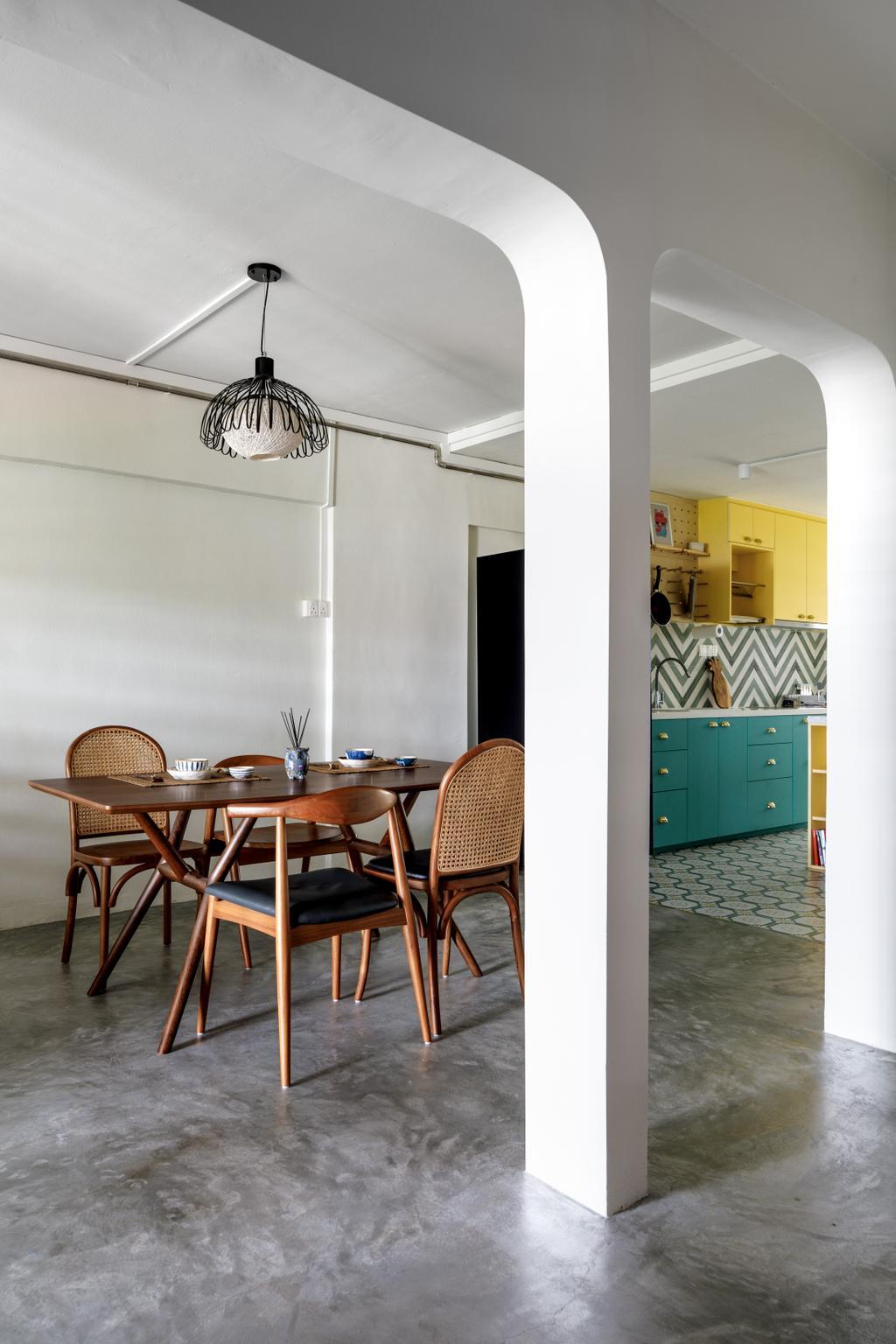 Eclectic, HDB, Dining Room, Telok Blangah, Interior Designer, Salt Studio
