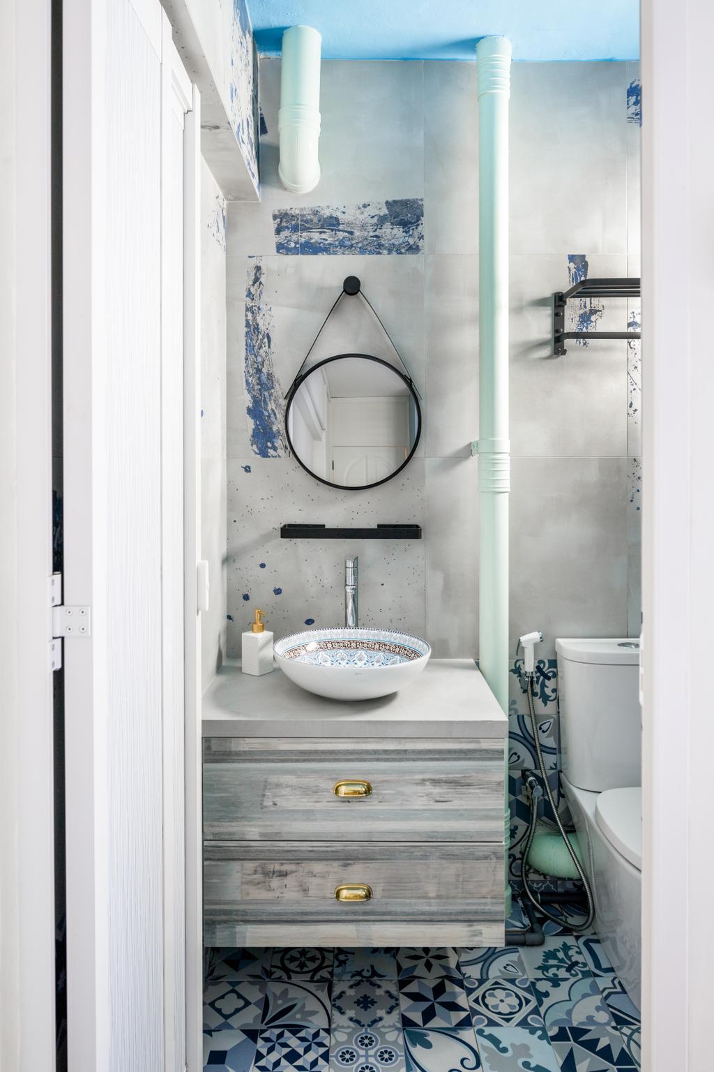 Eclectic, HDB, Bathroom, Telok Blangah, Interior Designer, Salt Studio
