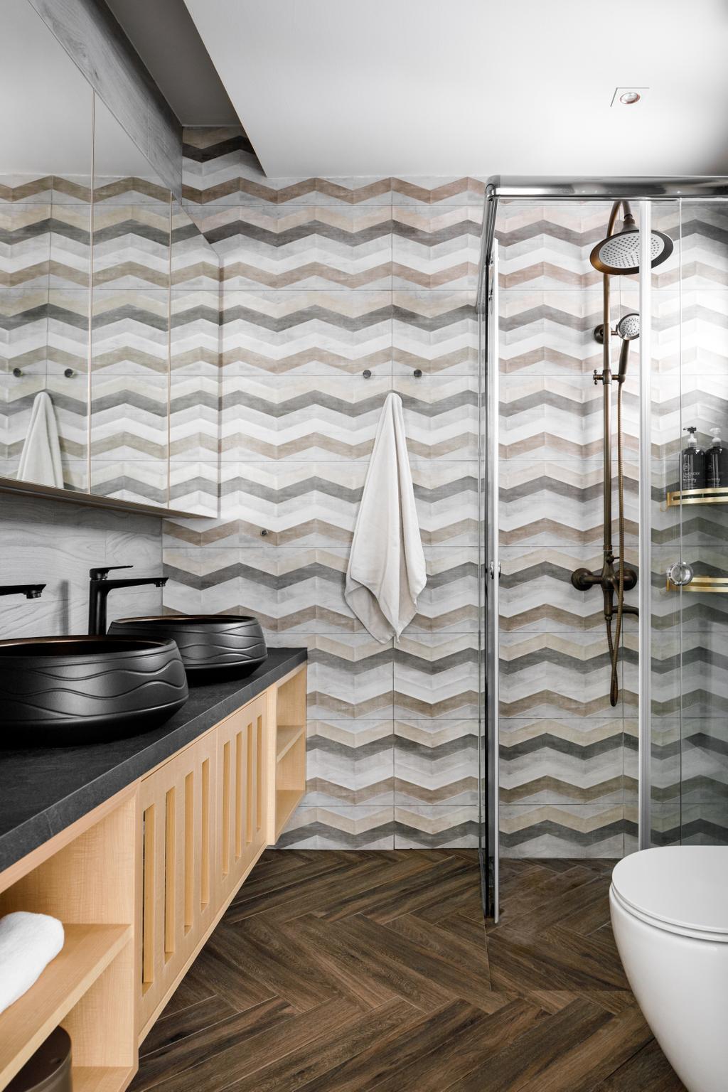 Modern, HDB, Bathroom, Anchorvale, Interior Designer, Salt Studio, Contemporary