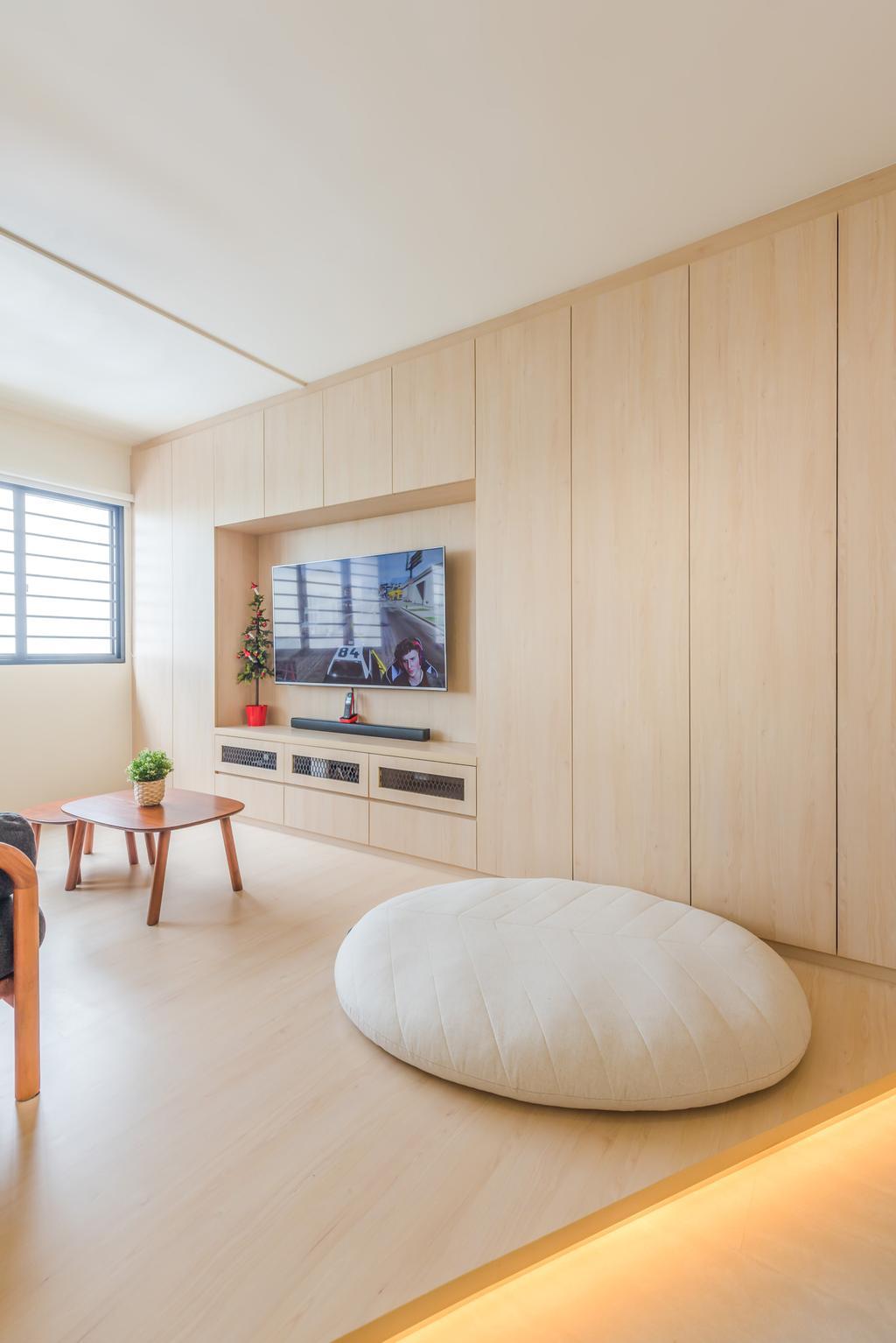Minimalistic, HDB, Living Room, Bishan, Interior Designer, Dap Atelier