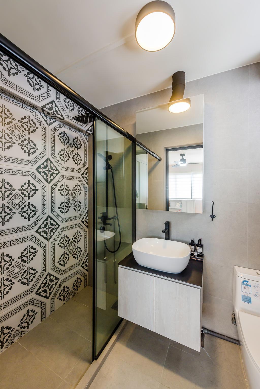 Minimalistic, HDB, Bathroom, Bishan, Interior Designer, Dap Atelier
