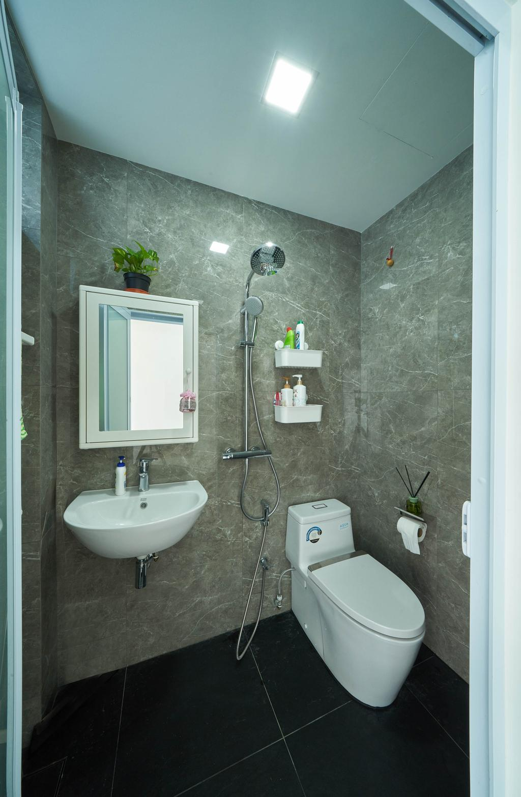 Modern, Landed, Bathroom, Sunrise Drive, Interior Designer, Ovon Design