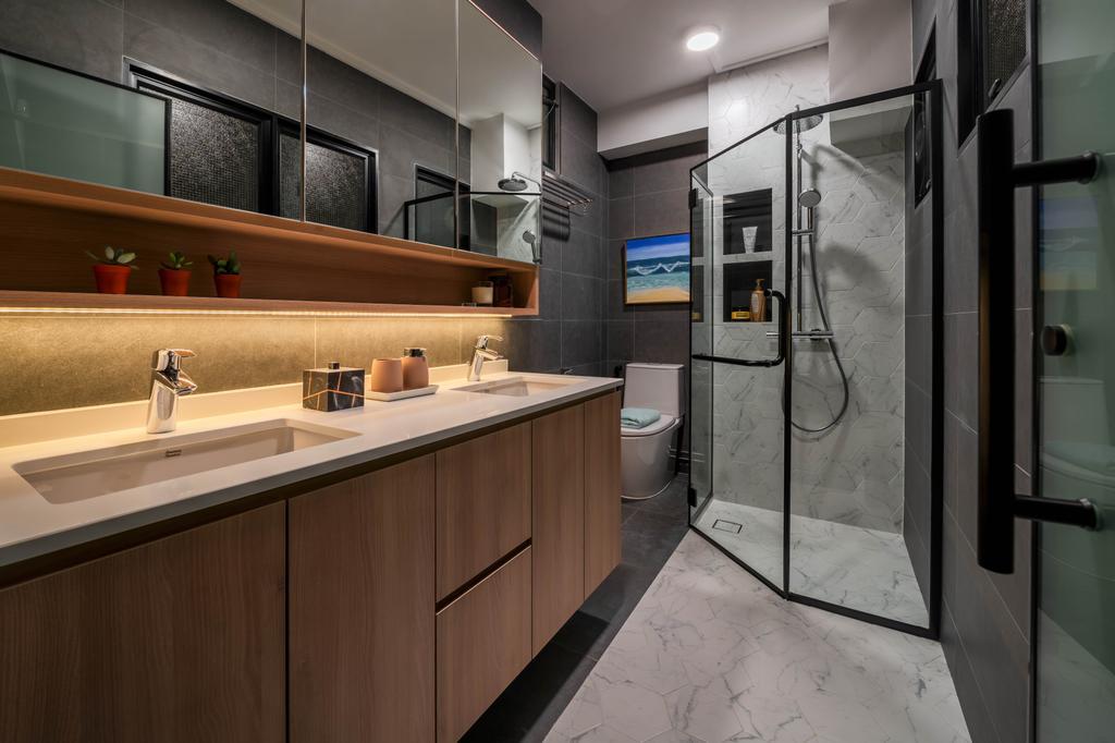 Contemporary, HDB, Bathroom, Toh Yi Drive, Interior Designer, Zenith Arc