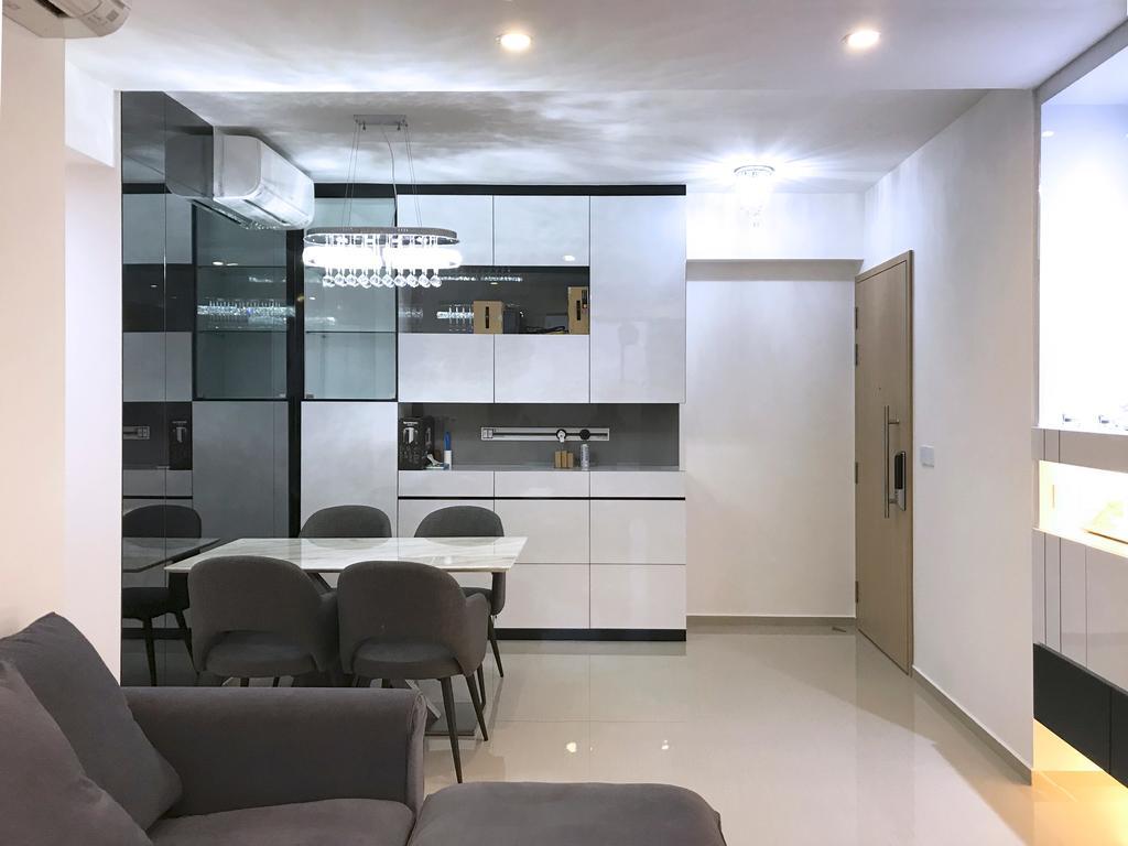 Modern, Condo, Dining Room, Parc Life, Interior Designer, Sky Creation Asia