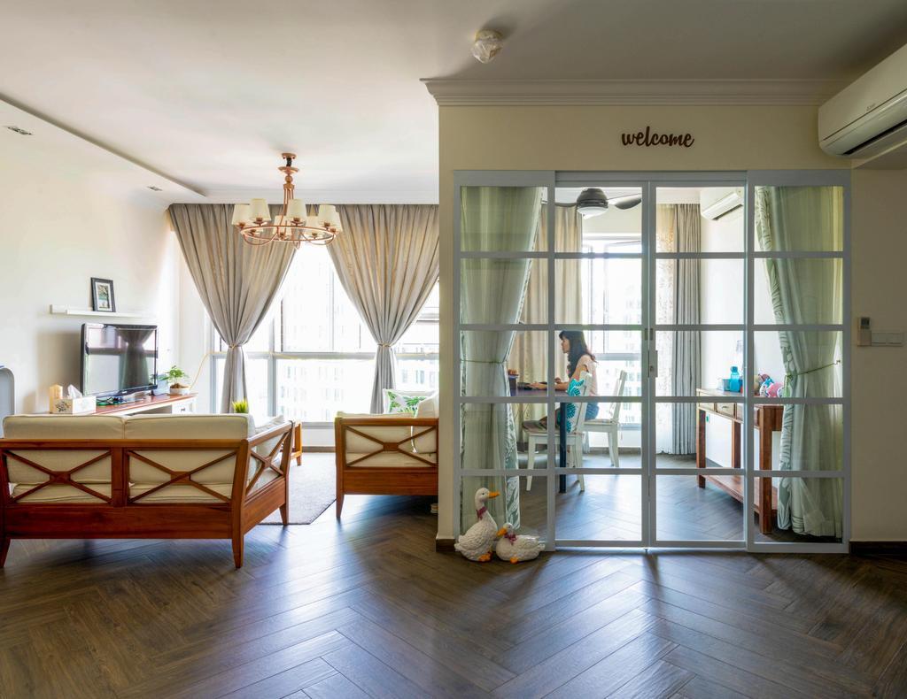 Modern, HDB, Living Room, Bidadari Park Drive, Interior Designer, Project Guru
